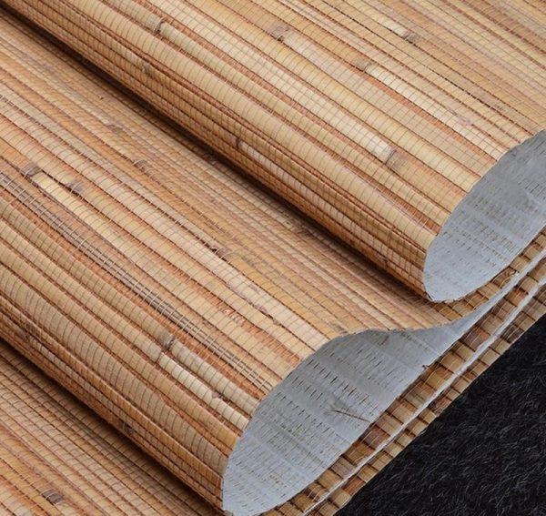 Тростниковые обои на бумажной основе