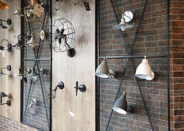 Декор из металлической сетки в стиле лофт