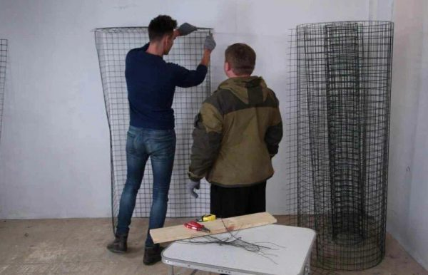 Изготовление шкафа из сетки