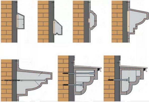 Крепление декоративных элементов к фасаду