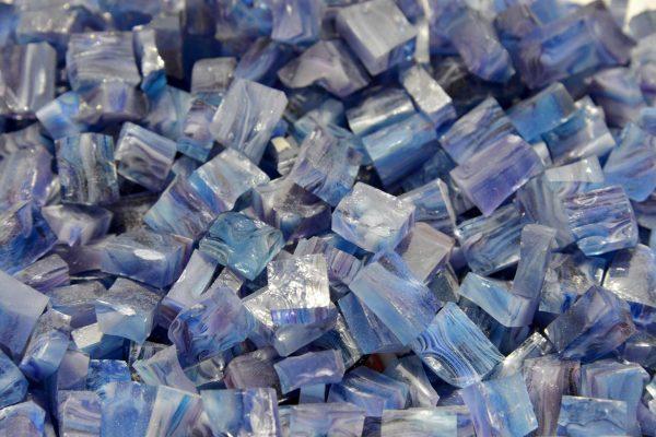 Смальта Murano Galamosaic сине-голубая