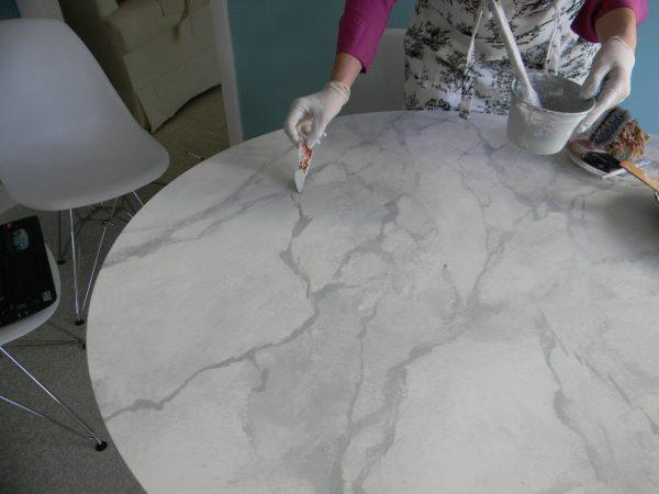 Имитация мрамора акриловыми красками