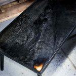Обожженный стол под эпоксидкой