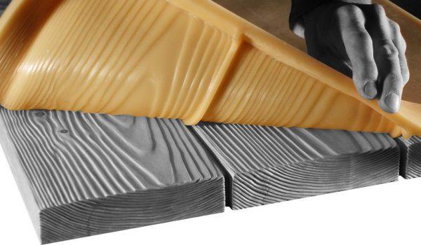 Отливка бетонных досок в силиконовой форме