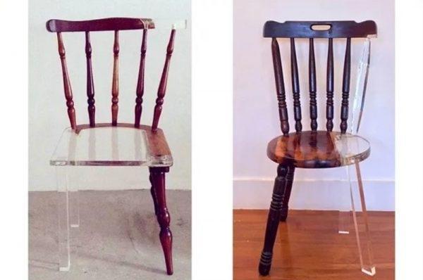 Переделка стульев с помощью эпоксидной смолы