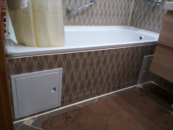Пластиковые панели под ванну