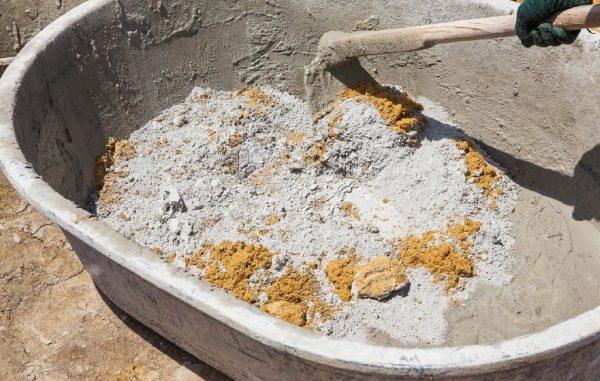 Раствор из цемента и глины