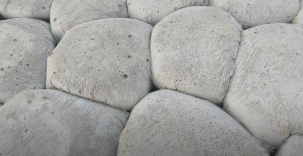 Укладка бетона в пакетиках