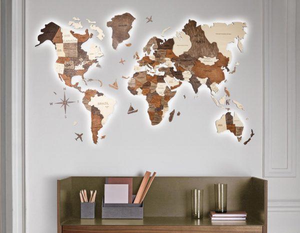 3D карта на стене