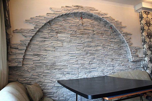 Декоративный гипсовый камень в интерьере