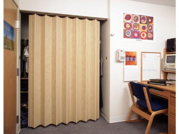 Дверь гармошка в гардеробную