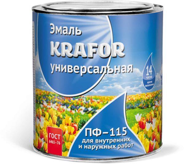 Эмаль пентафталевая алкидная Krafor