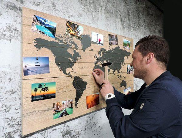 Фотографии из путешествий на стене
