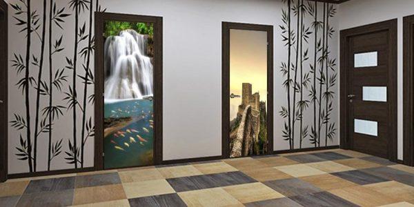 Межкомнатные двери с 3D рисунком