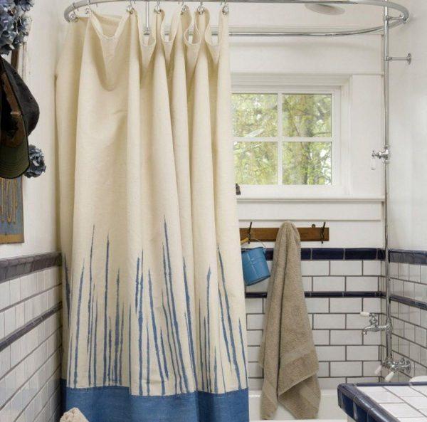 Текстильные шторы для ванной