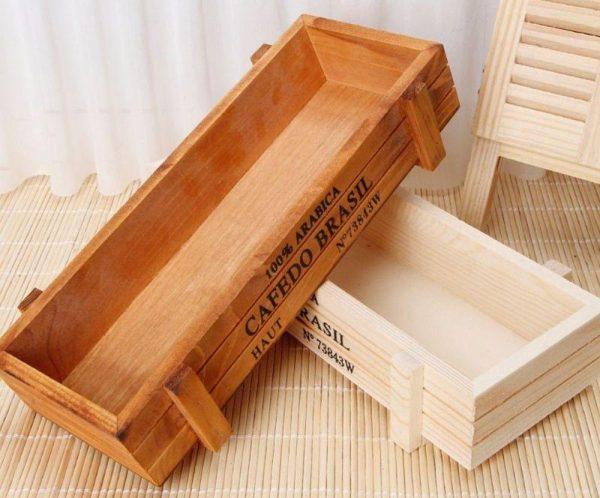 Винтажные деревянные ящики для рассады